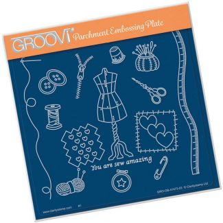Hobbies - Haberdashery A5 Square Groovi Plate