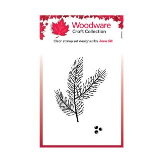 Woodware Festive Clear Stamp - Mini Pine Branch