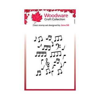 Woodware Festive Clear Stamp - Mini Music Background