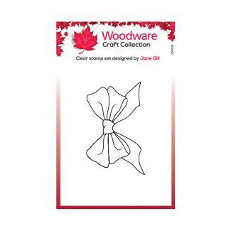 Woodware Festive Clear Stamp - Mini Big Bow