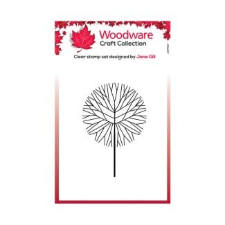 Woodware Festive Clear Stamp - Mini Round Twiggy Tree