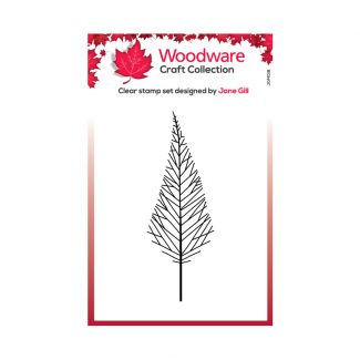 Woodware Festive Clear Stamp - Mini Tall Twiggy Tree