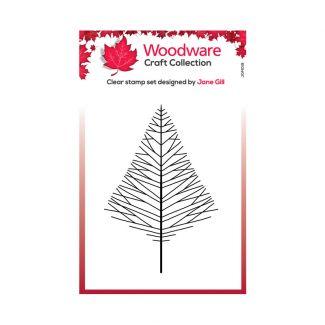 Woodware Festive Clear Stamp - Mini Wide Twiggy Tree