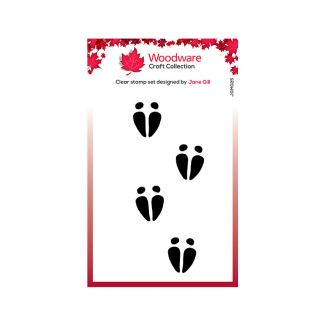 Woodware Clear Stamp Festive Fuzzies - Mini Reindeer Hooves Stamp