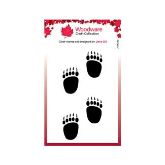 Woodware Clear Stamp Festive Fuzzies - Mini Polar Bear Paws Stamp