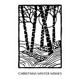 Woodware Clear Stamp -  Lino Cut - Birch Trees