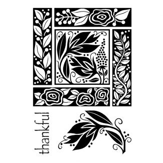 Woodware Clear Stamp - Floral Block