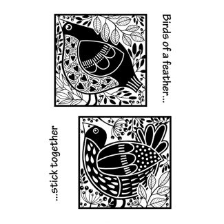 Woodware Clear Stamp - Bird Blocks