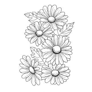 Woodware Clear Stamp - Five Daisies