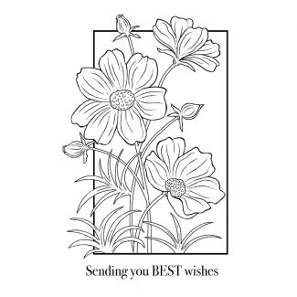 Woodware Clear Stamp - Cosmos Collection