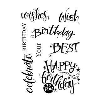 Woodware Clear Stamp - A Birthday Moment
