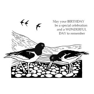 Woodware Clear Stamp - Lino Cut - Oyster Catchers