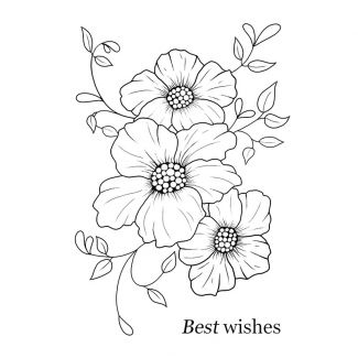 Woodware Clear Stamp - Peony Set