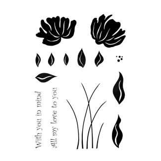 Woodware Clear Stamp - Petal Trio