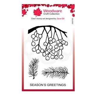 """Woodware Festive Clear Stamp - Festive Hanging Berries (6"""" x 4"""")"""