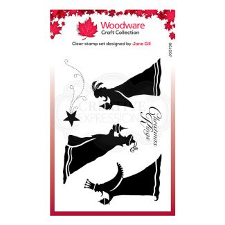 """Woodware Festive Clear Stamp - Bringing Gifts (6"""" x 4"""")"""