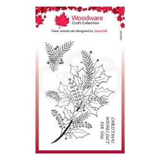 """Woodware Festive Clear Stamp - Sketchy Sprigs (6"""" x 4"""")"""