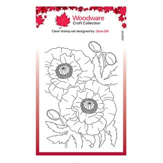 """Woodware Clear Stamp - Poppies (6"""" x 4"""")"""