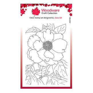 """Woodware Clear Stamp - Peony (6"""" x 4"""")"""