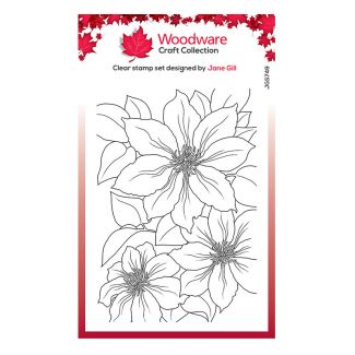 """Woodware Clear Stamp - Clematis (6"""" x 4"""")"""