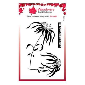 "Woodware Clear Stamp - Umbrella Grass (6"" x 4"")"