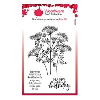 """Woodware Clear Stamp - Queen Anne's Lace (6"""" x 4"""")"""