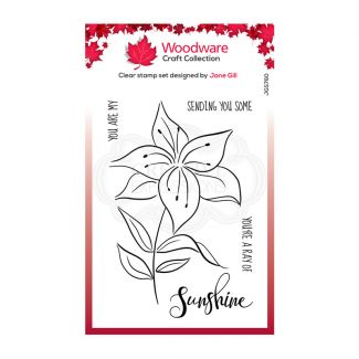 """Woodware Clear Stamp - Lily Sketch (6"""" x 4"""")"""