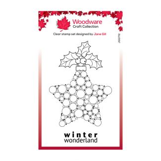 Woodware Festive Clear Stamp - Bubble Bauble and Holly