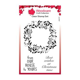 Woodware Festive Clear Stamp - Bubble Greenery