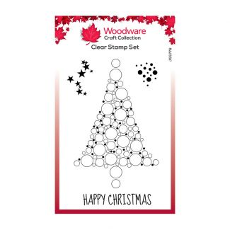 Woodware Festive Clear Stamp - Bubble Spruce