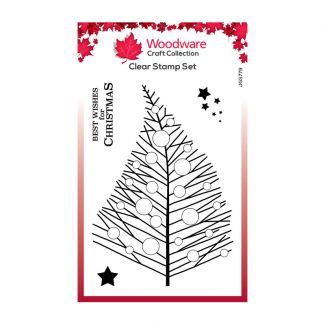 Woodware Festive Clear Stamp - Bubble Twiggy Tree