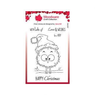 Woodware Clear Stamp Festive Fuzzies - Robin Stamp