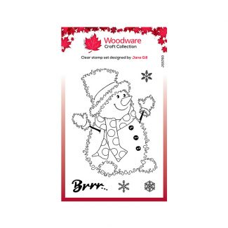 Woodware Clear Stamp Festive Fuzzies - Snowman Stamp