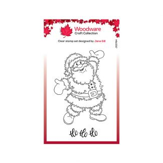 Woodware Clear Stamp Festive Fuzzies - Santa Stamp