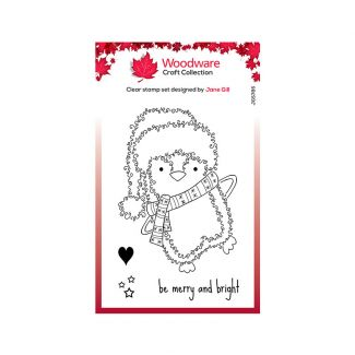 Woodware Clear Stamp Festive Fuzzies - Penguin Stamp