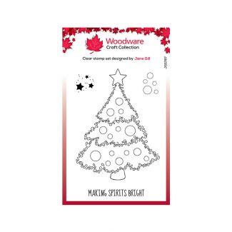 Woodware Clear Stamp Festive Fuzzies - Christmas Tree Stamp