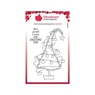 Woodware Clear Stamp Festive Fuzzies - Tall Christmas Tree Stamp