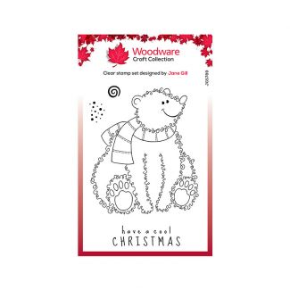 Woodware Clear Stamp Festive Fuzzies - Polar Bear Stamp