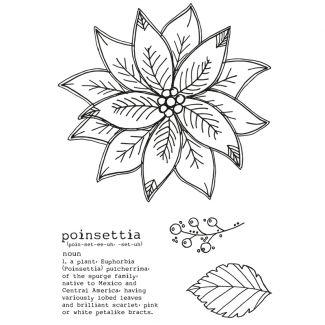Poinsettia A6 Stamp Set
