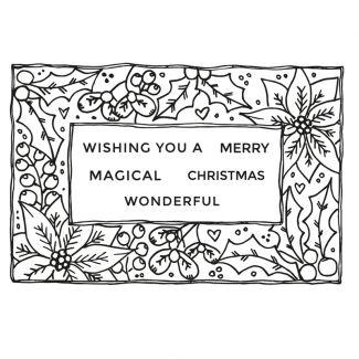 Christmas Frame A6 Stamp Set