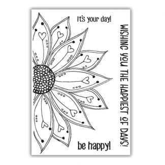 Be Happy A6 Stamp Set