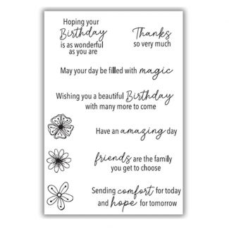 Positive Wishes A6 Stamp Set
