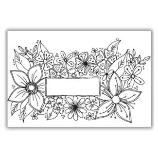 Bursting with Flowers A6 Stamp Set