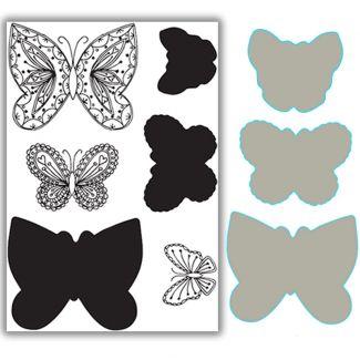 Layering Butterflies Stamp & Die Set