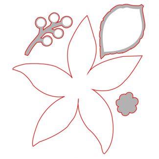 Poinsettia Die Cut