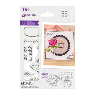 Gemini - Stamp & Die - June - Rose