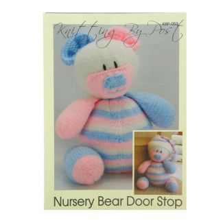 Knitting by Post pattern - Nursery Bear Door Stop