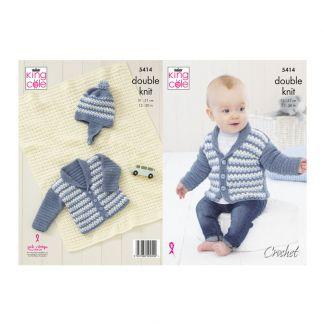 Pattern - Jacket, Hat & Blanket - Crochet
