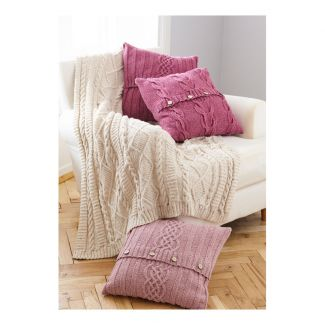 Pattern - Throw & Cushion Covers - Knit