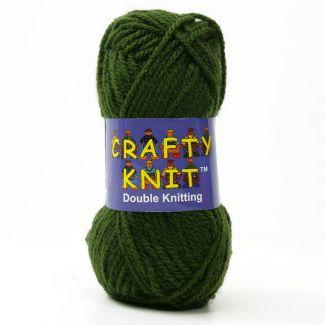 Crafty Knit DK Yarn 25g - Olive